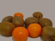 Kiwi e mandarino Fotografia Stock Libera da Diritti