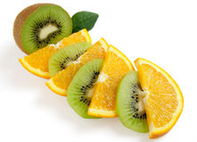 Kiwi ed arancio Immagine Stock Libera da Diritti