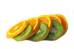 Kiwi ed arancio. Fotografie Stock