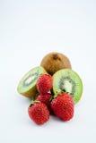 Kiwi en aardbeien 2 Royalty-vrije Stock Afbeeldingen