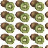 Kiwi en de helftenpatroon royalty-vrije illustratie