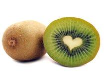 Kiwi en forma de corazón Imagenes de archivo
