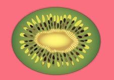 Kiwi en un fondo rosado stock de ilustración