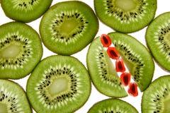 Kiwi et grenade Images libres de droits