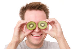 Kiwi eyes Royalty Free Stock Photos