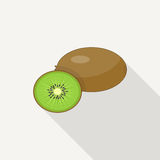 Kiwi Flat Icon Photographie stock libre de droits