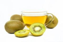 Kiwi flavored tea Stock Image