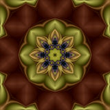 Kiwi flower mandala Stock Photo