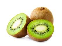 Kiwi frais d'isolement sur le blanc Photo stock