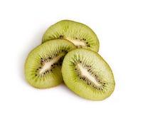 Kiwi frais sur le fond blanc image libre de droits