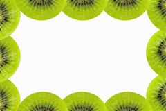 Kiwi frame isolated Royalty Free Stock Photos