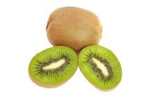 Kiwi-Frucht getrennt auf Weiß Lizenzfreie Stockfotografie