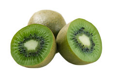 Kiwi fruit. Isolated kiwi on the white background stock photo