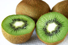 Kiwi fruit. Fresh kiwi fruit isolated on white royalty free stock image