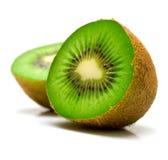 Kiwi fruit. On a white background. Isolation on white, shallow DOF Stock Photos