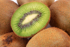 Kiwi fruit. Fresh halves and full kiwi fruit Stock Photo