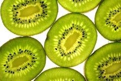 Kiwi fruit. Over a white background Stock Photos