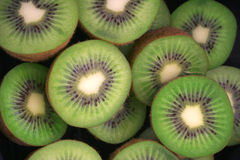 Kiwi fruit. Sliced fresh kiwi fruit pieces Stock Photo