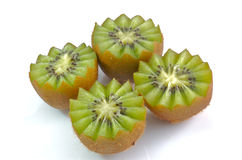 Kiwi fruit. Four Kiwi fruit closeup on white Royalty Free Stock Images