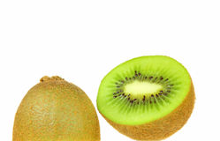 Kiwi Fruit. S scliced in Half / Cut Open ready to eat Stock Images