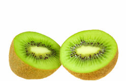 Kiwi Fruit. S scliced in Half / Cut Open ready to eat Stock Photo