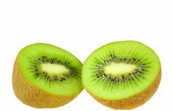Kiwi Fruit. S scliced in Half / Cut Open ready to eat Stock Photo