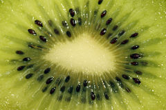 Kiwi fruit. Close up inside of kiwi fruit Stock Images