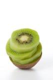 Kiwi fruit. Fresh pieces kiwi fruit isolated on white background Stock Photography