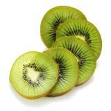 Kiwi fruit. Sliced kiwi fruit on white background Stock Photography
