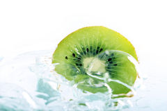 Kiwi Fruit. Slice in clear water Royalty Free Stock Images