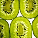 Kiwi fruit. Slices on a white background Royalty Free Stock Images