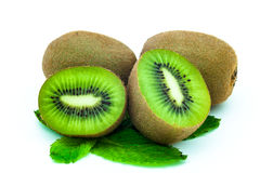 Kiwi fruit. Fresh piece kiwi fruit isolated on white background Stock Photo