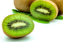 Kiwi fruit. Fresh piece kiwi fruit isolated on white background Stock Image