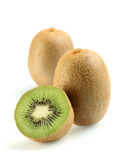 Kiwi fruit. On white background Royalty Free Stock Images
