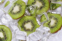 Kiwi Fruit. In ice stock image