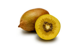 Kiwi fruit. A golden kiwi fruit isolated on white background stock image