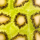 Kiwi fruit background. Crop in square Royalty Free Stock Photos