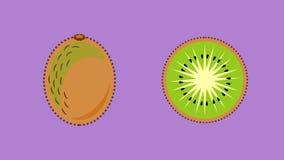 Kiwi Fruit Banner Vector Illustration de Vecteur
