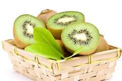 Kiwi fruit in basket Royalty Free Stock Image