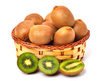 Kiwi fruit in the basket Royalty Free Stock Photos