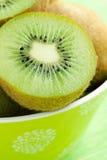 Kiwi fruit in bowl royalty free stock image