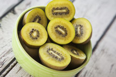 Kiwi Fruit Bowl Stockbilder