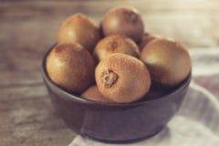 Kiwi fruit in a bowl Royalty Free Stock Photo