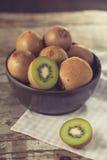 Kiwi fruit in a bowl Stock Photo