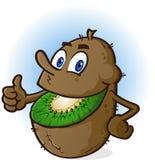Kiwi Fruit Cartoon Character stock illustrationer