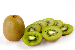 Kiwi fruit, Chinese gooseberry (Actinidia chinensis). Stock Images