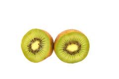 Kiwi fruit and Chinese gooseberry (Actinidia chinensis). Sliced kiwi fruit and Chinese gooseberry (Actinidia chinensis Stock Photography