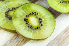 Kiwi Fruit. Close up on a kiwi fruit Royalty Free Stock Photography