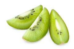 Kiwi Fruit Close Up ha isolato Fotografie Stock