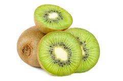 Kiwi Fruit Close Up ha isolato Immagini Stock Libere da Diritti